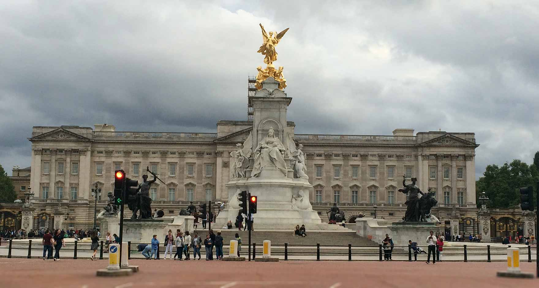 Front view of Buckingham Palace